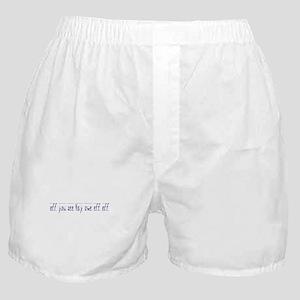 Eff You Kay Owe Eff Eff Boxer Shorts