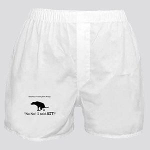 I said sit! Boxer Shorts
