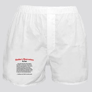 Sheldon's My Seat Quote Boxer Shorts