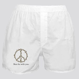 Bees be with you (peace symbo Boxer Shorts