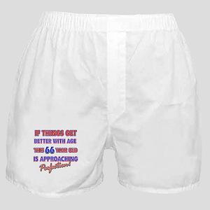 Funny 66th Birthdy designs Boxer Shorts