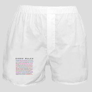 NCIS Gibbs' Rules Boxer Shorts