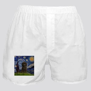 Starry Night & Affenpinscher Boxer Shorts