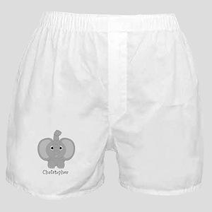 Personalized Elephant Design Boxer Shorts