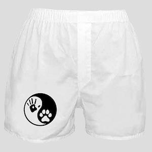 Human & Dog Yin Yang Boxer Shorts