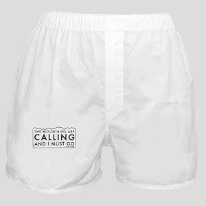 John Muir Mountains Calling Boxer Shorts