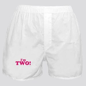 Im Two Second Birthday Boxer Shorts
