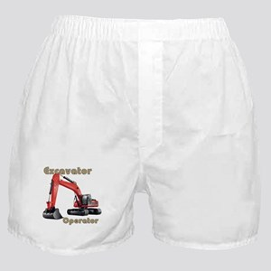 Red Excavator Boxer Shorts