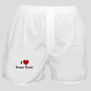 Customized I Love Heart Boxer Shorts