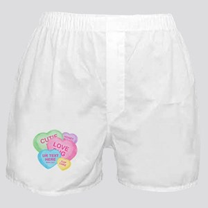Fun Candy Hearts Personalized Boxer Shorts