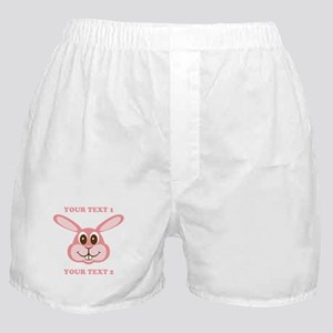 PERSONALIZE Pink Bunny Boxer Shorts