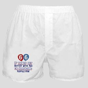 66 year Old Birthday Designs Boxer Shorts