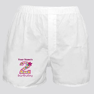 2nd Birthday Splat - Personalized Boxer Shorts