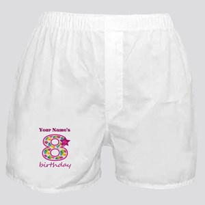 8th Birthday Splat - Personalized Boxer Shorts