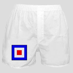 Nautical Flag Code Whiskey Boxer Shorts