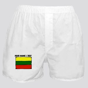 Custom Lithuania Flag Boxer Shorts
