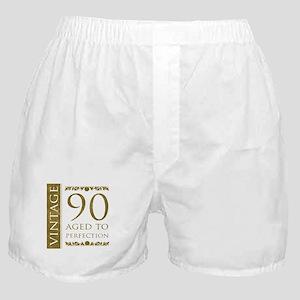 Fancy Vintage 90th Birthday Boxer Shorts