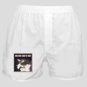 Funny 90th Birthday (Cat) Boxer Shorts