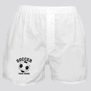 Personalized Name Soccer Boxer Shorts