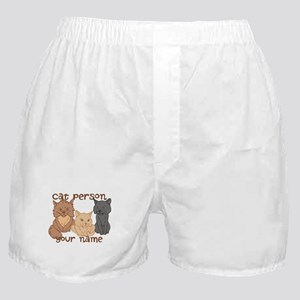 Personalized Cat Person Boxer Shorts