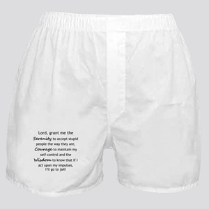 Sarcastic Serenity Prayer 02 Boxer Shorts
