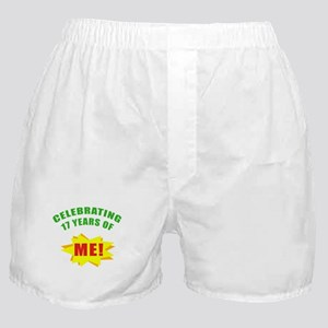 Celebrating Me! 17th Birthday Boxer Shorts