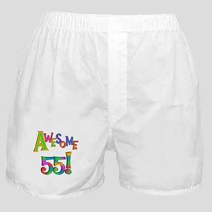 Awesome 55 Birthday Boxer Shorts