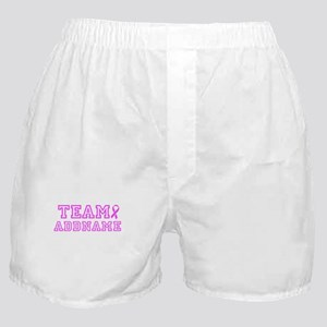 Team Pink Personalize Boxer Shorts