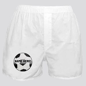 Personalized Name Soccer Ball Boxer Shorts
