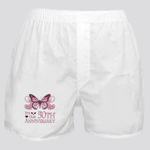 50th Wedding Aniversary (Butterfly) Boxer Shorts
