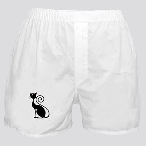 Black Cat Vintage Style Design Boxer Shorts