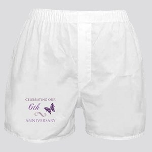 6th Wedding Aniversary (Butterfly) Boxer Shorts