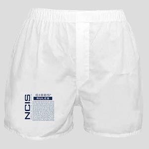 NCIS Gibbs Rules Boxer Shorts