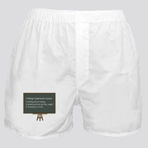 3 Things I Learned In School Boxer Shorts