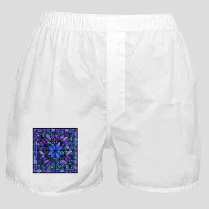 Blue Quilt Boxer Shorts