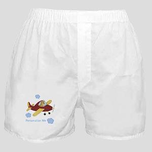 Personalized Airplane - Dinosaur Boxer Shorts