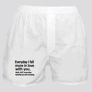 Everyday I fall more in love with you Boxer Shorts