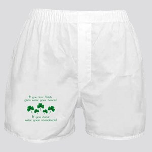 Raise Your Hands for Irish Girls Boxer Shorts