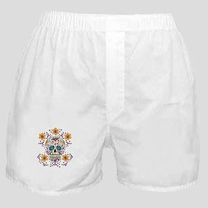 Sugar Skull WHITE Boxer Shorts