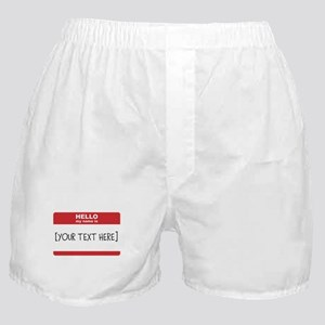 Name Tag Big Personalize It Boxer Shorts