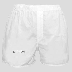 Est 1998 Boxer Shorts