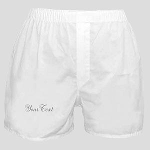 Personalizable Black Script Boxer Shorts