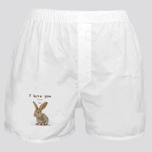 I Love You from Ear to Ear Boxer Shorts