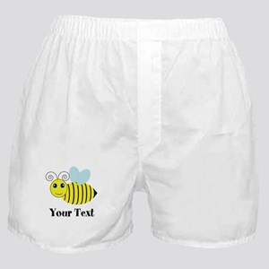 Personalizable Honey Bee Boxer Shorts