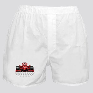 Formula 1 Red Race Car Boxer Shorts