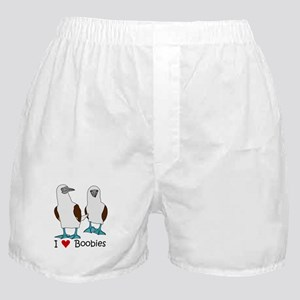 I Heart Boobies Boxer Shorts