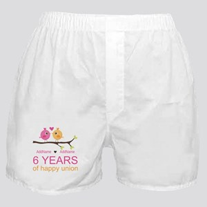 6th Anniversary Personalized Boxer Shorts
