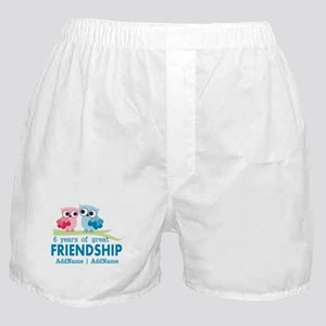 6th Anniversary Couple Gift Personali Boxer Shorts