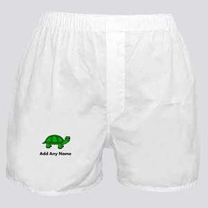 Turtle Design - Add Your Name! Boxer Shorts