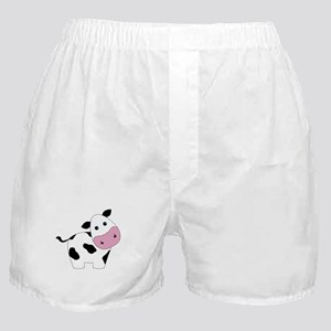 Cute Black and White Cow Boxer Shorts